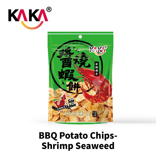 KAKA BBQ Potato Chips-Shrimp Seaweed 40g