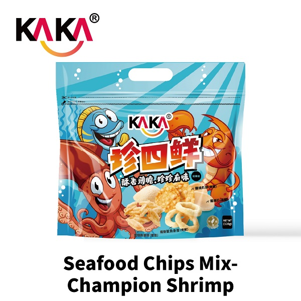 KAKA Seafood Chips Mix-Champion Shrimp 120g